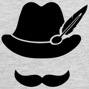 Cool Moustache (Hat) Oktoberfest Smiley - Outfit Baby & Toddler Shirts - Men's Premium Tank