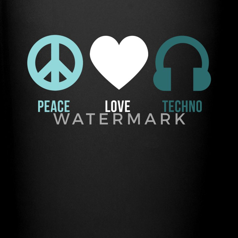 Techno peace love techno Mugs & Drinkware - Full Color Mug