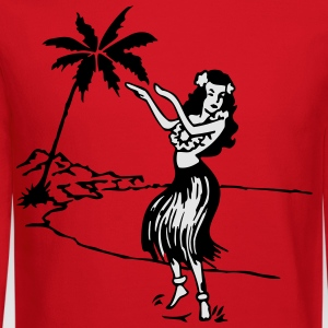aloha hawaiian girl T-Shirts - Crewneck Sweatshirt