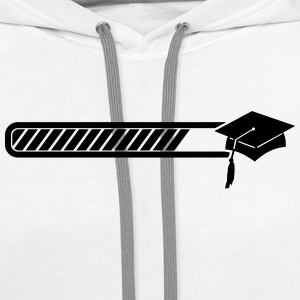 graduation loading Women's T-Shirts - Contrast Hoodie