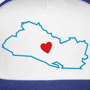 I love El Salvador Map - Trucker Cap