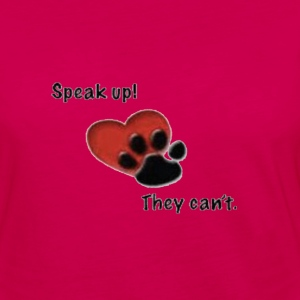 speak up they can't Women's T-Shirts - Women's Premium Long Sleeve T-Shirt