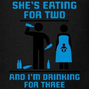 eating for two drinking for three Tanks - Men's T-Shirt