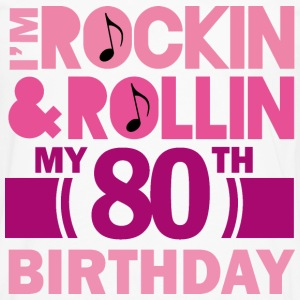 80th Birthday Rock N Roll Women's T-Shirts - Men's Premium Long Sleeve T-Shirt