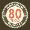 80th Birthday Vintage 80 year old T-Shirts - Men's Premium T-Shirt