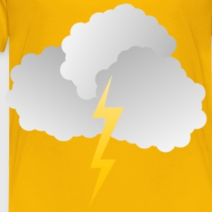 Clouds and Lightning - Toddler Premium T-Shirt