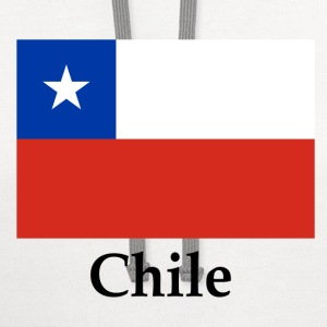 Chile Flag And Name T-Shirts - Contrast Hoodie