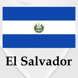 El Salvador Flag And Name - Bandana
