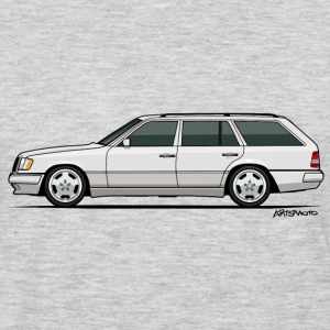Mercedes W124 300TE Wagon (White) Kids' Shirts - Men's Premium Long Sleeve T-Shirt