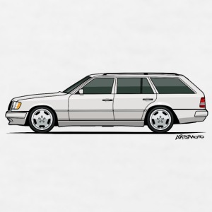 Mercedes W124 300TE Wagon (White) Mugs & Drinkware - Men's T-Shirt