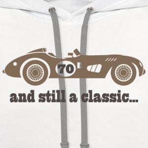 70th Birthday classic car T-Shirts - Contrast Hoodie