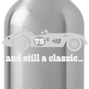 75th Birthday vintage car T-Shirts - Water Bottle