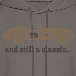 70th Birthday classic car T-Shirts - Men's Hoodie
