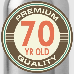 70th Birthday Vintage logo T-Shirts - Water Bottle