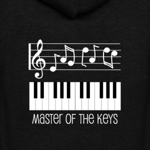 Piano Keys and White Musical Notes T-Shirts - Unisex Fleece Zip Hoodie by American Apparel