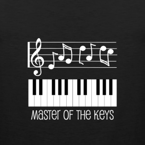 Piano Keys and White Musical Notes T-Shirts - Men's Premium Tank