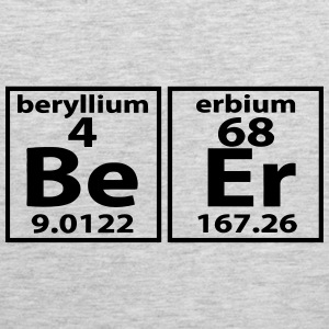 THE BEER ELEMENT PERIODIC TABLE Kids' Shirts - Men's Premium Tank