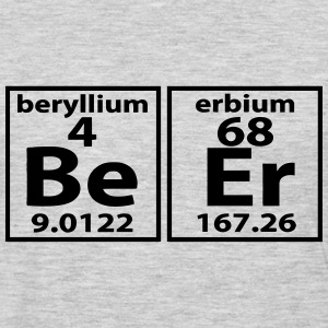 THE BEER ELEMENT PERIODIC TABLE T-Shirts - Men's Premium Long Sleeve T-Shirt