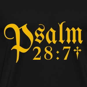 Psalm 28:7 - Men's Premium T-Shirt