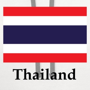 Thailand Flag T-Shirts - Contrast Hoodie