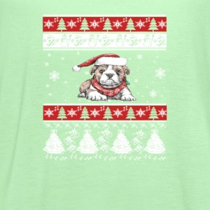 Bulldog Ugly Christmas Sweater - Women's Flowy Tank Top by Bella
