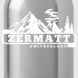 Zermatt Switzerland T-Shirts - Water Bottle