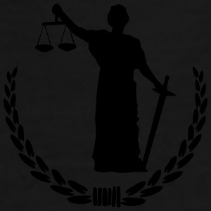 Lady Justice Mugs & Drinkware - Men's Premium T-Shirt