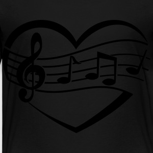 Music Heart Kids' Shirts - Toddler Premium T-Shirt