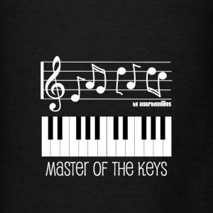Piano Keys and Musical Notes White Hoodies - Men's T-Shirt
