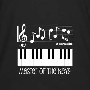 Piano Keys and Musical Notes White Hoodies - Men's Premium Long Sleeve T-Shirt