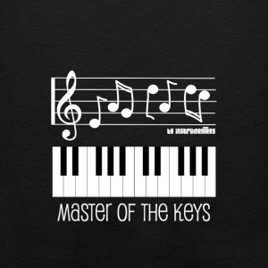 Piano Keys and Musical Notes White Hoodies - Men's Premium Tank