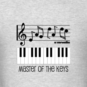 Master of the Keys - Piano Keys and Musical notes Hoodies - Men's T-Shirt