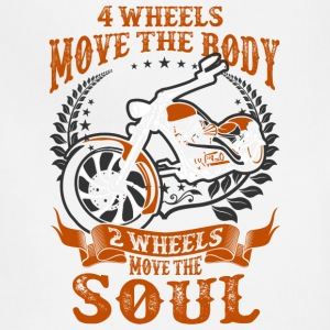 4 Wheels Move The Body 2 Wheels Move The Soul - Adjustable Apron