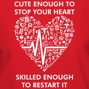 Cute Enough To Stop Heart Skiled Enough To Restart - Women's Hoodie