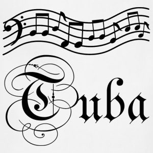 Tuba Music Staff T-Shirts - Adjustable Apron
