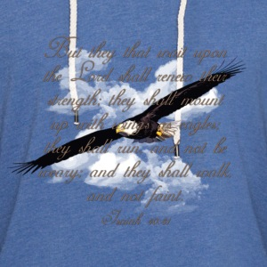 Wings as Eagle Christian T-Shirts - Unisex Lightweight Terry Hoodie