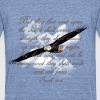 Wings as Eagle Christian T-Shirts - Unisex Tri-Blend T-Shirt by American Apparel