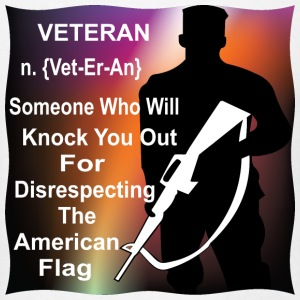 Veteran Someone Who Will Knock You Out For - Men's T-Shirt