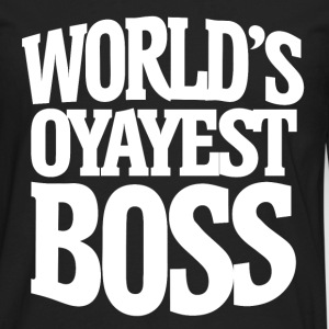 Worlds okayest Boss for bosses day - Men's Premium Long Sleeve T-Shirt