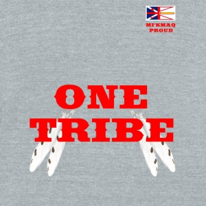 MI'KMAQ PROUD ONE TRIBE - Unisex Tri-Blend T-Shirt by American Apparel