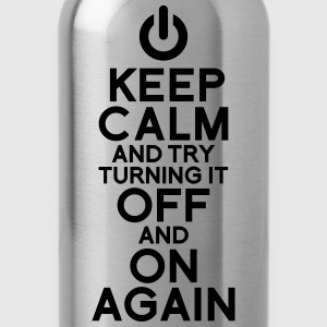 Keep calm geek off on - Water Bottle