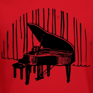 Piano in front of curtain Women's T-Shirts - Crewneck Sweatshirt