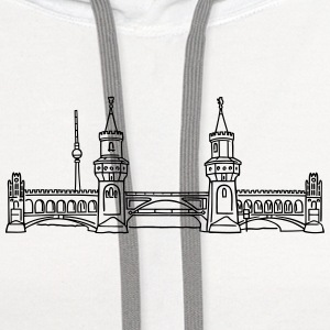 Oberbaum Bridge in Berlin Phone & Tablet Cases - Contrast Hoodie