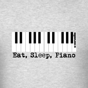 eat sleep piano Hoodies - Men's T-Shirt