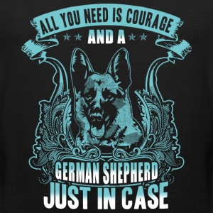 courage and a german shepherd - Men's Premium Tank