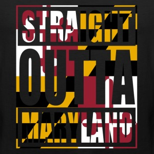 Straight Outta Maryland Flag T-Shirts - Men's Premium Tank
