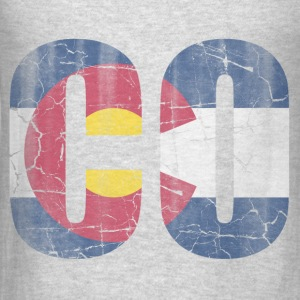 CO Colorado Flag Vintage Hoodies - Men's T-Shirt