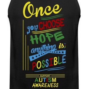 Support Autism Awareness - Men's Premium Tank