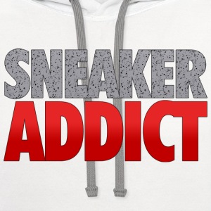 sneaker addict speckled T-Shirts - Contrast Hoodie