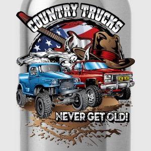 Country Off-Road Trucks Women's T-Shirts - Water Bottle